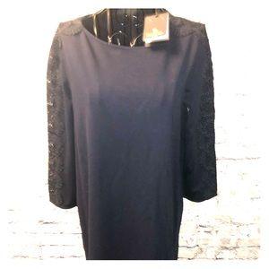 Massimo Dutti navy blue dress